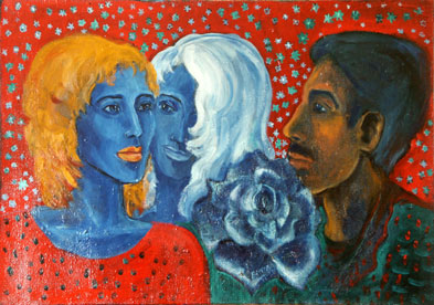 "Vesela Naydenova. ""Gypsy time"". Oil on canvas. 50x70 cm. 1996."