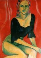 Mountain Women Series Dream Oil On Canvas 70x50 Cm 2001