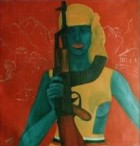 Women Weapons Series Kalashnikov 70x70 Cm 2001