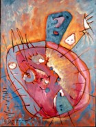 Attack Of Sun Rabbits Series Attack Oil On Canvas 80x60 Cm