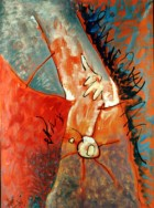 Attack Of Sun Rabbits Series River Oil On Canvas 80x60 Cm.jpg