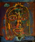Hutzul Masks4 Hutzul Masks Series Oil On Cardboard 25x15 Cm 1997.jpg