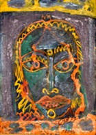 Hutzul Masks5 Hutzul Masks Series Oil On Cardboard 25x15 Cm 1997.jpg