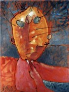 Saga Of Dgemory Series Filosof Oil On Canvas 80x60 Cm 1995